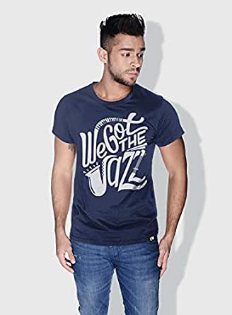 Creo We Got The Jazz Trendy T-Shirts For Men - L, Blue