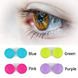 KISEER 24 Pack Colourful Cute Contact Lens Case