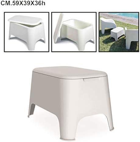 Toomax - Mesa auxiliar de resina de Petra, 59 x 39 x 36 cm, para exterior, jardín, con tapa de almacenamiento: Amazon.es: Hogar