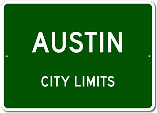 Austin, Texas - USA City Limits Street Sign - Aluminum 10