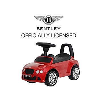 childrens toddler bentley continental gt ride on push along kids toy car gift childs with underseat