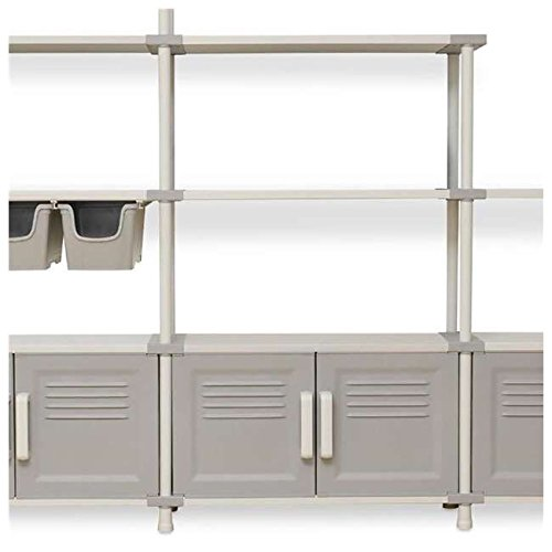 Toomax Freedom Promo Pack Easy to Assemble Modular Wall Unit Cabinets and Shelves with Storage Boxes and Wall Mount Kit