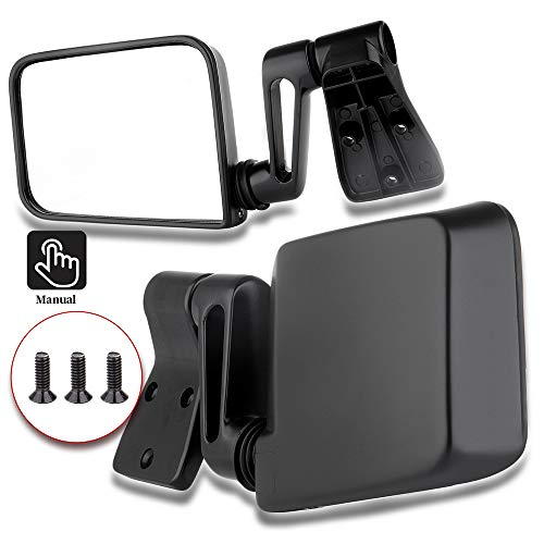 ECCPP Texture Side View Mirror Black Pair Side