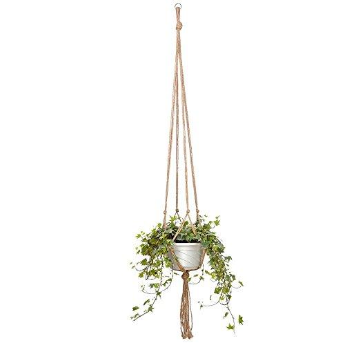 HEHEN 4 Pieces Plant Hanger Flower Pot Plant Holder for Indoor Outdoor Decorations, Hemp Rope 48Inch ,4 Legs