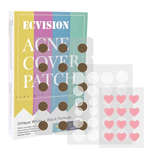 EC VISION Acne Pimple Master Patch,Tea Tree Oil Hydrocolloid Acne Stickers Absorbing Spot Dot Acne Cover Acne Spot Treatment(51Patches)