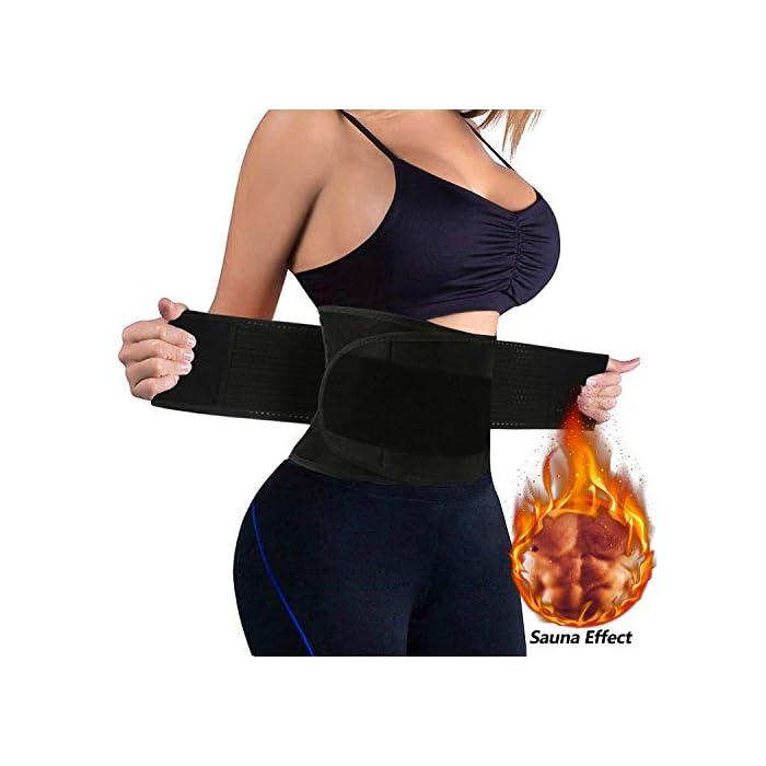41 ▶ STIMULATE FAT BURN LOSE PESO ---- El reductor de la cintura para adelgazar de las mujeres aumenta el calor del cuerpo para promover la transpiración durante sus actividades deportivas. Maximice su quemadura y pierda esa grasa abdominal rápidamente conservando el calor corporal y eliminando el exceso de peso del agua, especialmente en su área abdominal con esta envoltura estomacal. Cintura adecuada: 85-89 cm. ▶ SOPORTE DE RESPALDO MANTENGA SALUDABLE --- Aumente el velcro y los 4 huesos de acrílico reforzados encerrados en un lienzo grueso en la parte posterior ofrecen compresión abdominal instantánea y soporte lumbar; Cinturón de fitness proporciona compresión para apoyar la espalda baja y los músculos abdominales. Le permite tener el soporte adecuado y evitar el dolor y promover el fortalecimiento muscular en las áreas lumbar y abdominal, mejorar la postura y estabilizar la columna vertebral. ▶ CINTURÓN DE BODA PARA ENTRENAMIENTO DE ENTRENADOR DE CINTURA ---- Fabricado con un tejido suave y elástico de alta calidad, hecho para durar y adaptarse a la forma de su cuerpo sin irritar su piel. El cierre de velcro permite el ajuste de acuerdo con el tamaño, para una mayor comodidad y transpirabilidad. Excelente para el corsé de abdomen.