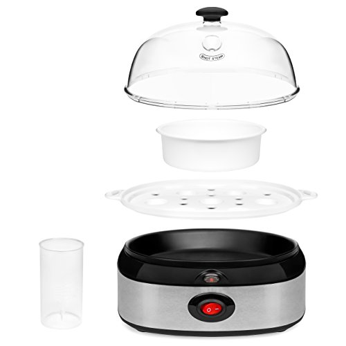 Best Choice Products Capacity Poacher, Steamer Off, Transparent Lid, Measuring -