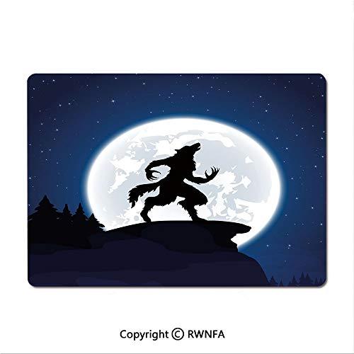 Custom Mouse pad,Full Moon Night Sky Growling Werewolf