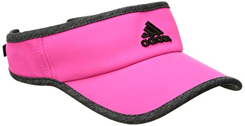 adidas Women's Adizero Ii Visor, Shock Pink/Dark Grey Heather/Black, One Size ()