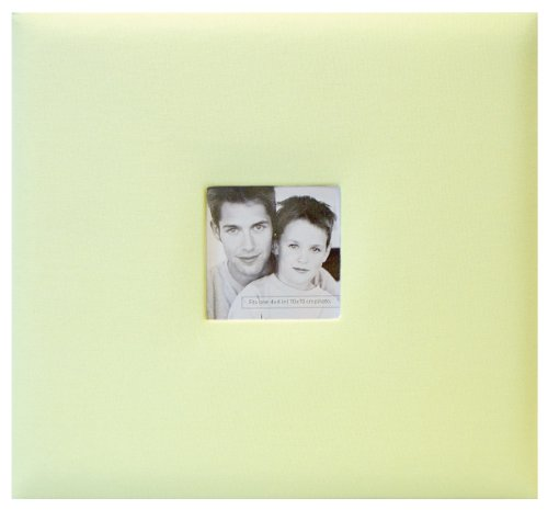 MCS MBI Fashion Fabric Postbound Album 8-Inch by 8-Inch, Pastel Green, 9.6 x 8.5 Overall
