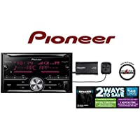 Pioneer FH-X730BS Double Din CD Receiver w/ Built in Bluetooth & SiriusXM SXV300v1 Satellite Radio and a FREE SOTS Air Freshener