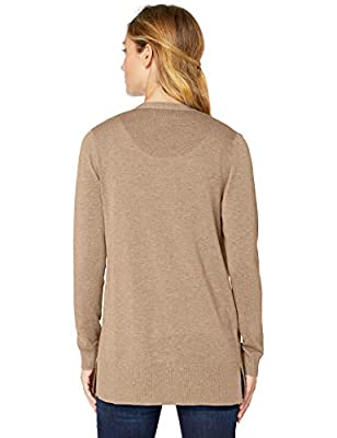 Amazon Essentials Women's Lightweight Open-Front Cardigan Sweater, Camel Heather, XX-Large