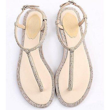 4 2 Suede UK2 5 5 Almond Sandals EU34 CN33 Spring Black Flat Comfort Women's Casual Comfort US4 Silver xSP1ww