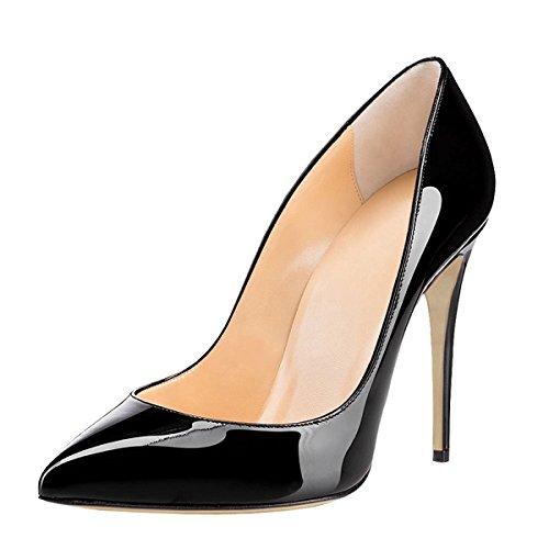 à Talons Fermés bout avec femme Chaussures femme Escarpins Soireelady talon Black fermé Femme RaqxHwpYnE