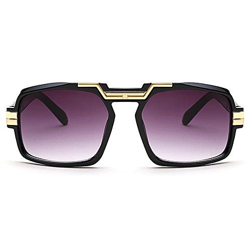 Retro Aviator Sunglasses For Men Women Vintage Square Designer Sun - Pitt Aviator Brad Sunglasses