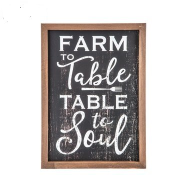 Farm To Table Wood Wall Decor Industrial Theme Decoration