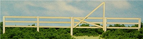 GC Laser HO Scale 3-SLAT CORRAL FENCE & GATE New Kit #19086 ()
