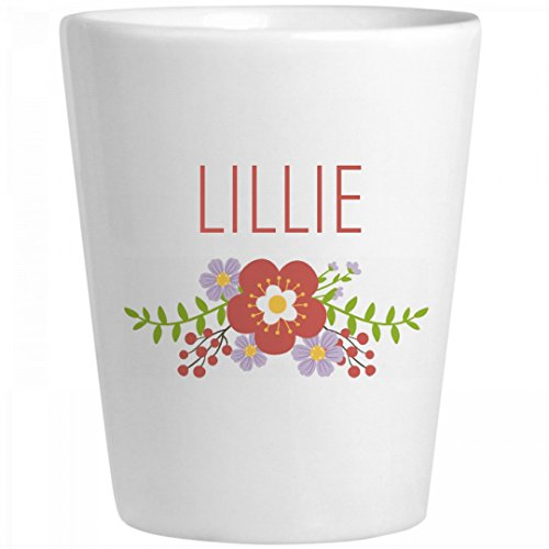 Cute Flower Lillie Shot Glass: Ceramic Shot Glass