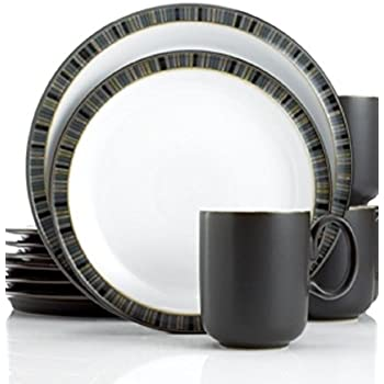 Denby Dinnerware Jet Stripes 12 Pie Stripes  sc 1 st  Amazon.com & Amazon.com | Denby Jet Stripes 12-Piece Dinnerware Set Service for ...