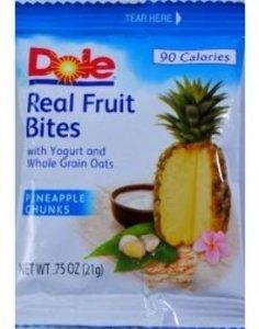 Dole Real Fruit Bites Pineapple Chunks Bag