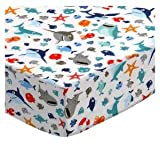 SheetWorld Fitted Playard Sheet Fits BabyBjorn Travel Crib Light 24 x 42 – Sharks – Made in USA Review