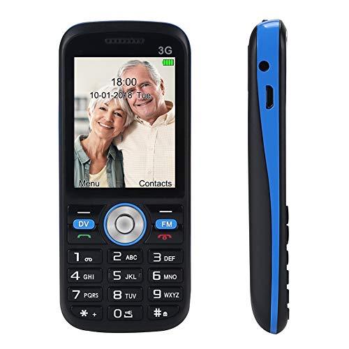 Easy to Use Unlocked Cell Phones for Seniors, 3G Senior Phone 2.0'' Loud Speaker Big Buttons FM, Senior Cell Phone Unlocked at&T, T-Mobile Phone, Single Sim (Black)