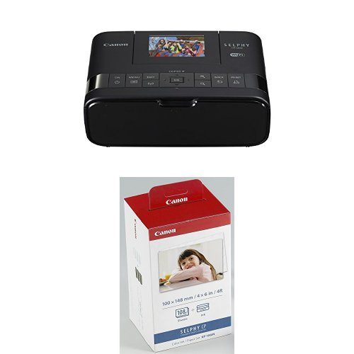 Canon Selphy CP1200 Black Wireless Color Photo Printer and