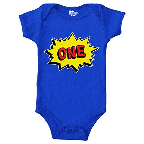 - First Birthday, Anniversary Bodysuit (Royal Blue, 12 Months) (1st Birthday Onesie)