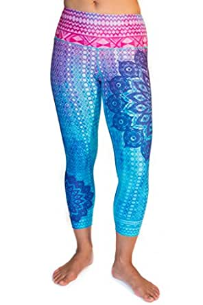 Inner Fire Mandala Capri Yoga Pants, Large