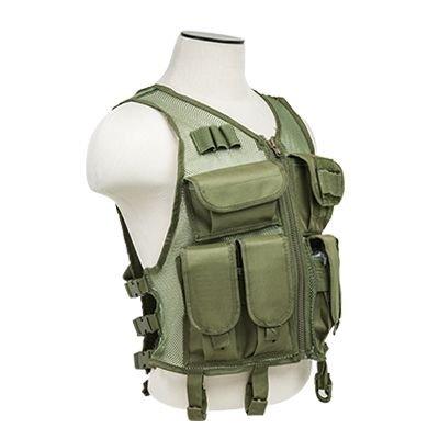 NcSTAR CMTV2951G Vism Lightweight Mesh Tactical Vest Green, M-XL