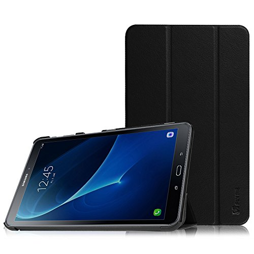 Fintie Samsung Galaxy Tab A 10.1 Hülle - Ultra Schlank Superleicht Ständer Smart Shell Case Cover Schutzhülle Etui Tasche mit Auto Schlaf / Wach Funktion für Samsung Galaxy Tab A 10,1 Zoll T580N / T585N Tablet (2016 Version), Schwarz