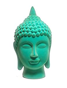 Large Velvet Indian Buddha Statue Electric Blue 11.5 Inches