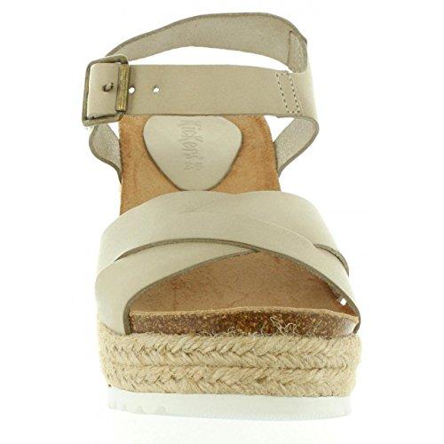 Kickers Sandalen Für Damen 502040-50 YUTI 31 Blanc Casse Schuhgröße 40