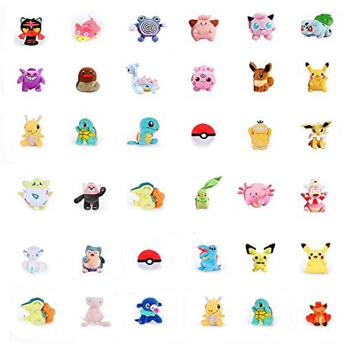 Price comparison product image PampasSK Stuffed & Plush Animals - Styles Pikachu Popplio Wartortle Torchic Eevee Cute Doll Plush for Children Gift Cartoon Character Plush Toys Around 20 cm 1 PCs