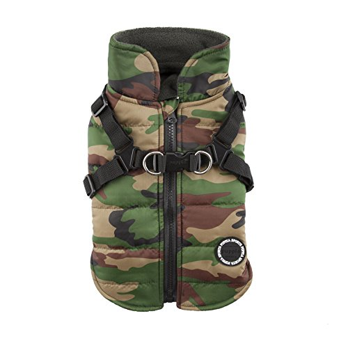(Puppia Authentic Mountaineer II Winter Vest, Medium, Camo)