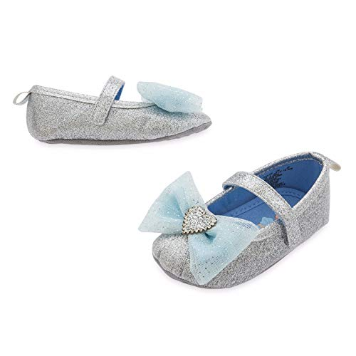 Disney Store Cinderella Princess Baby Slippers Costume Shoes (18-24M) Silver -