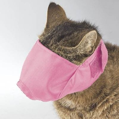 Guardian Gear Soft Adjustable Cat Muzzles Perfect For Grooming Three Colors and Muzzle Sizes(Small Pink) (Pink Guardian Gear)