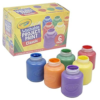Crayola Washable Kid's Paint - 6 Per Package: Kitchen & Dining