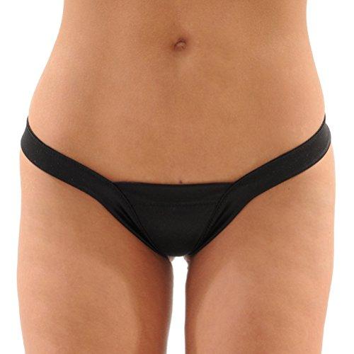 Dancers Delight Lycra Thong Pantie SeXy Panty 6 Color Options Color: Black - Dancer Stripper
