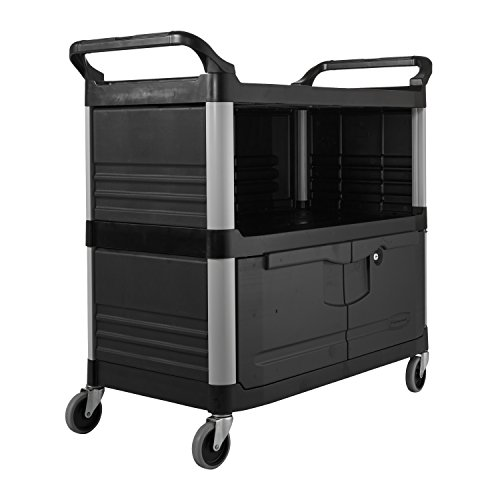 Rubbermaid-Commercial-Utility-Cart-Black-FG409500BLA