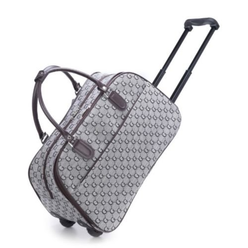 Ladies Designer G Holdall Trolley Weekend Bag Hand Luggage Travel ...