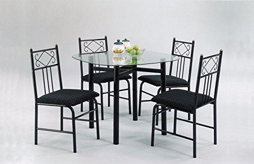 Benzara BM159975 Dining Set (Grooved Ring Seat)