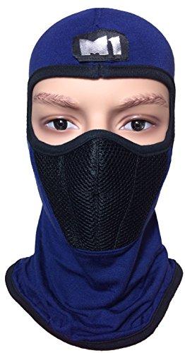 M1 Full Face Cover Balaclava Protecting Filter Face Mask Blue (Team Aqua Cosplay Costume)