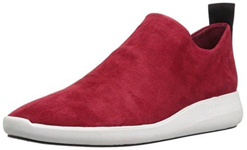 Via Spiga Womens Marlow Slip on Sneaker Red Suede