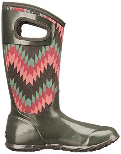 Paludi Womens North Hampton Nativo All Weather Pioggia Boot Loden Multi