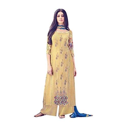 designer pakistano Party Straight donne Bollywood Salwar indiano vestito Personalizza Wear desai misurare abito Suit prachi musulmana 8743 per indiano qBv16