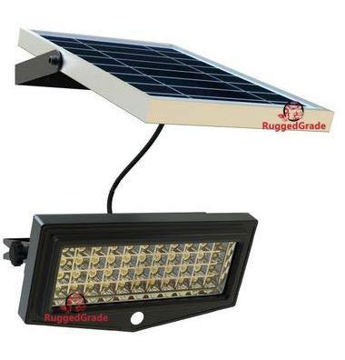 High Power 1000Lumen Solar Motion LED Flood Light -10 Watts of High Power Light - Commercial Grade Flood Light - Adjustable Mount - Solar LED Floodlight - 8000mAh Rechargeable Battery
