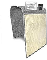 Navaris krabmat voor katten 2x - Krabmat voor aan bank - Met opbergvak - Krabtapijt voor kat - Bankbescherming - 130 x 45 cm - Lichtgrijs/wit