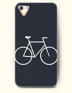 OOFIT Phone Case design with Simple White Bike for Apple iPhone 4 4s 4g