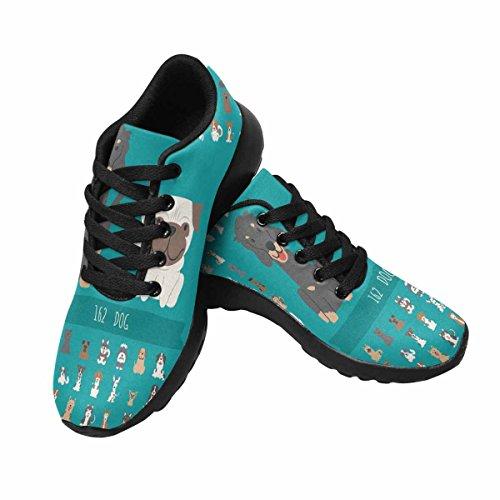 Scarpa Da Jogging Leggera Da Donna Running Running Leggera Easy Go Walking Comfort Sport Scarpe Da Corsa Set Di Personaggi Di Cani Multi 1